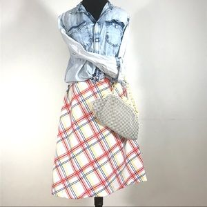 Vintage High Waist Midi Skirt by Miss Brooks